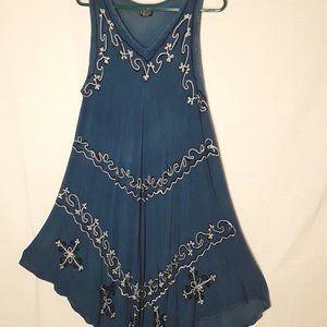 NWOT Boho Embroidered dress.  One size.